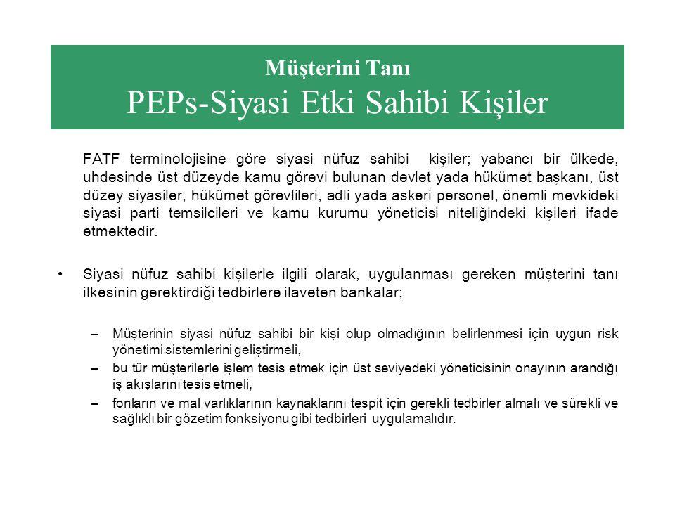 Müşterini Tanı PEPs-Siyasi Etki Sahibi Kişiler