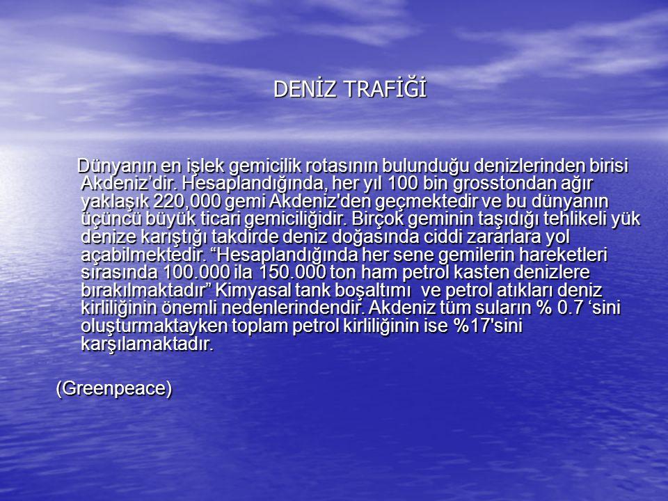 DENİZ TRAFİĞİ