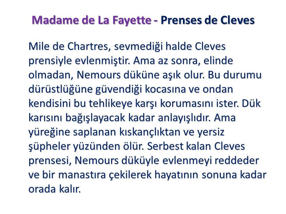 Madame de La Fayette - Prenses de Cleves