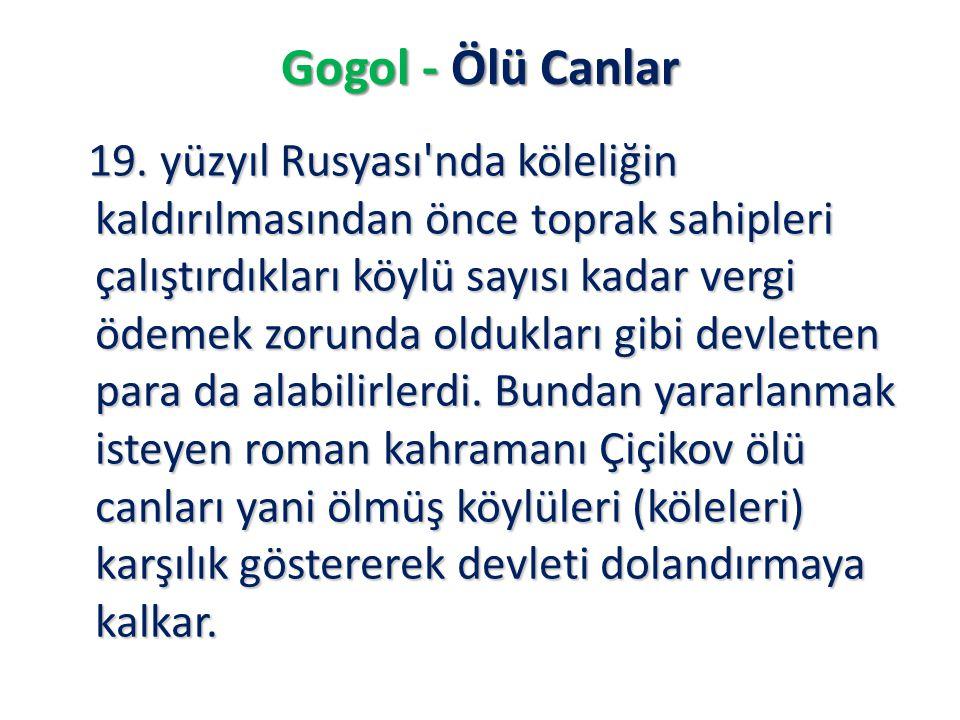 Gogol - Ölü Canlar
