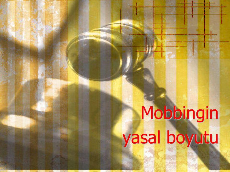 Mobbingin yasal boyutu