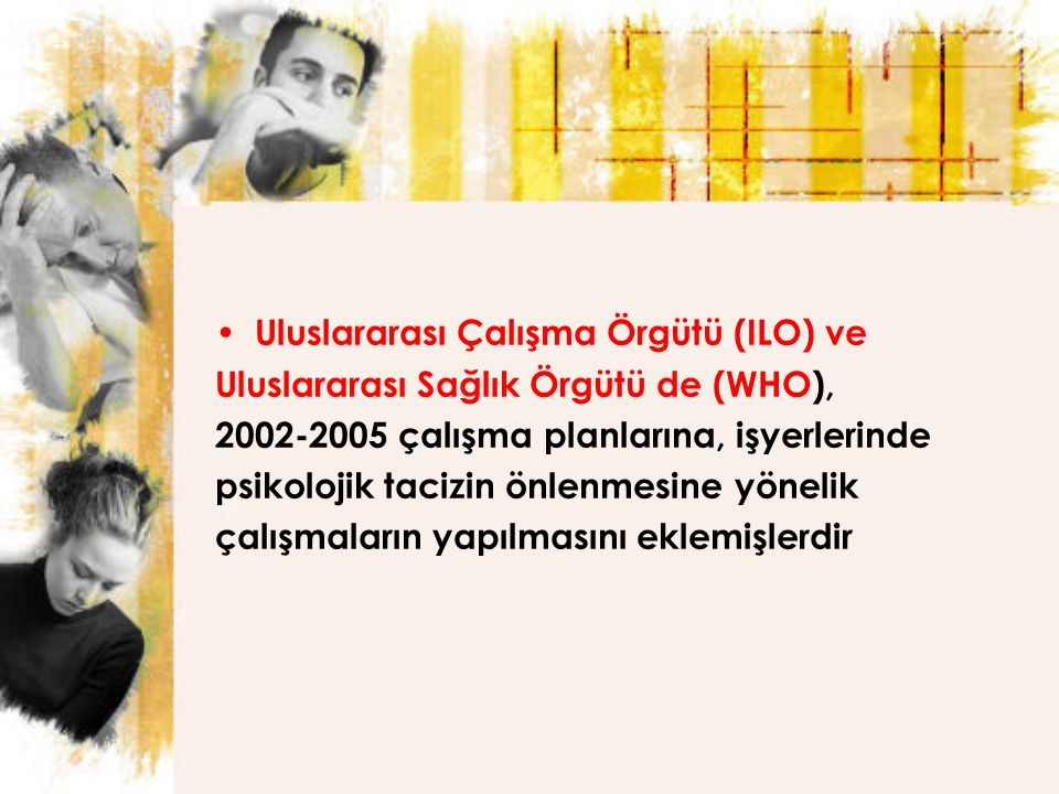 Uluslararası Çalışma Örgütü (ILO) ve