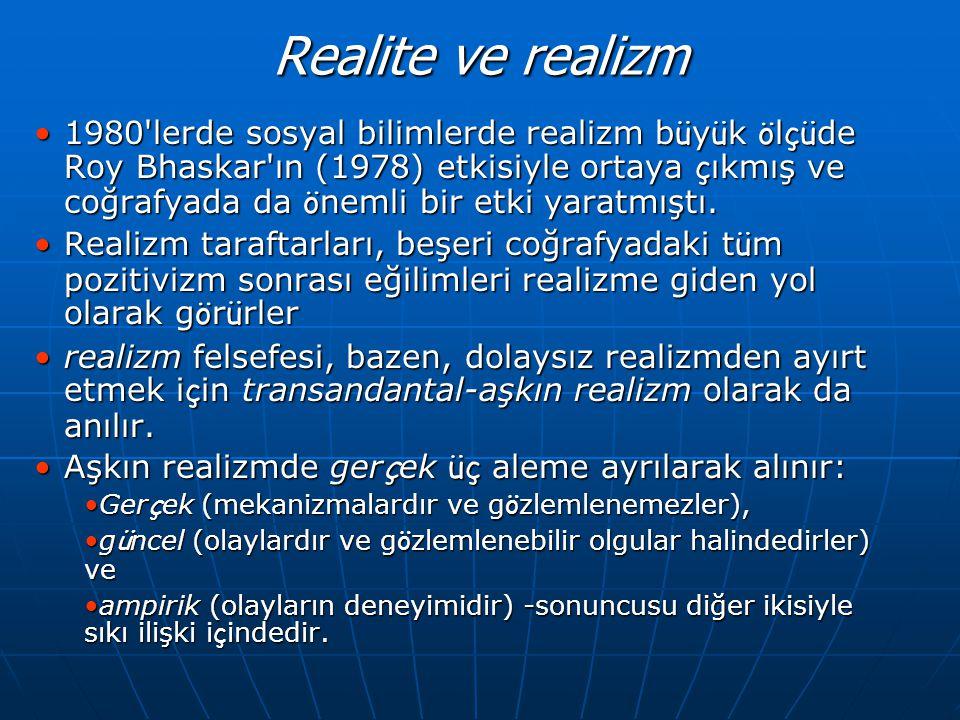 Realite ve realizm