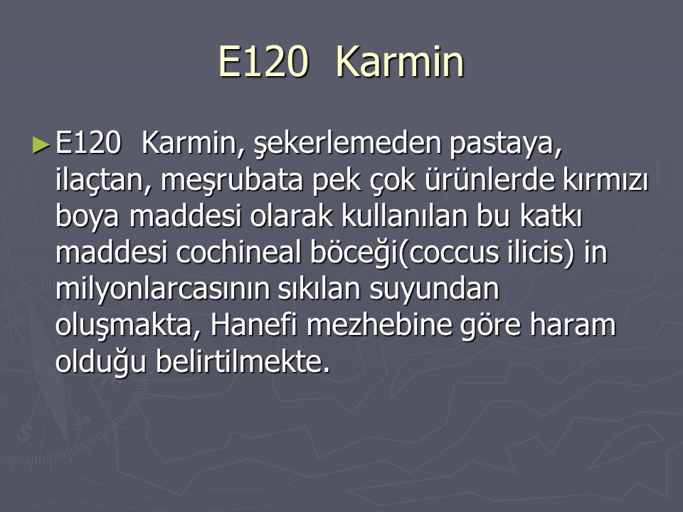 E120 Karmin