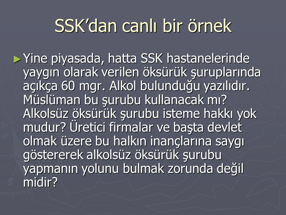 SSK'dan canlı bir örnek
