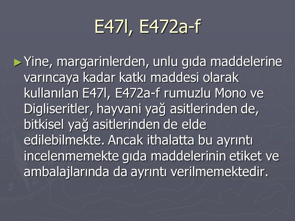 E47l, E472a-f