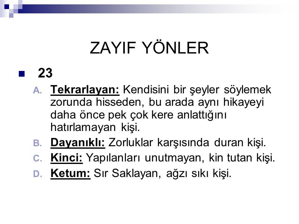 ZAYIF YÖNLER 23.