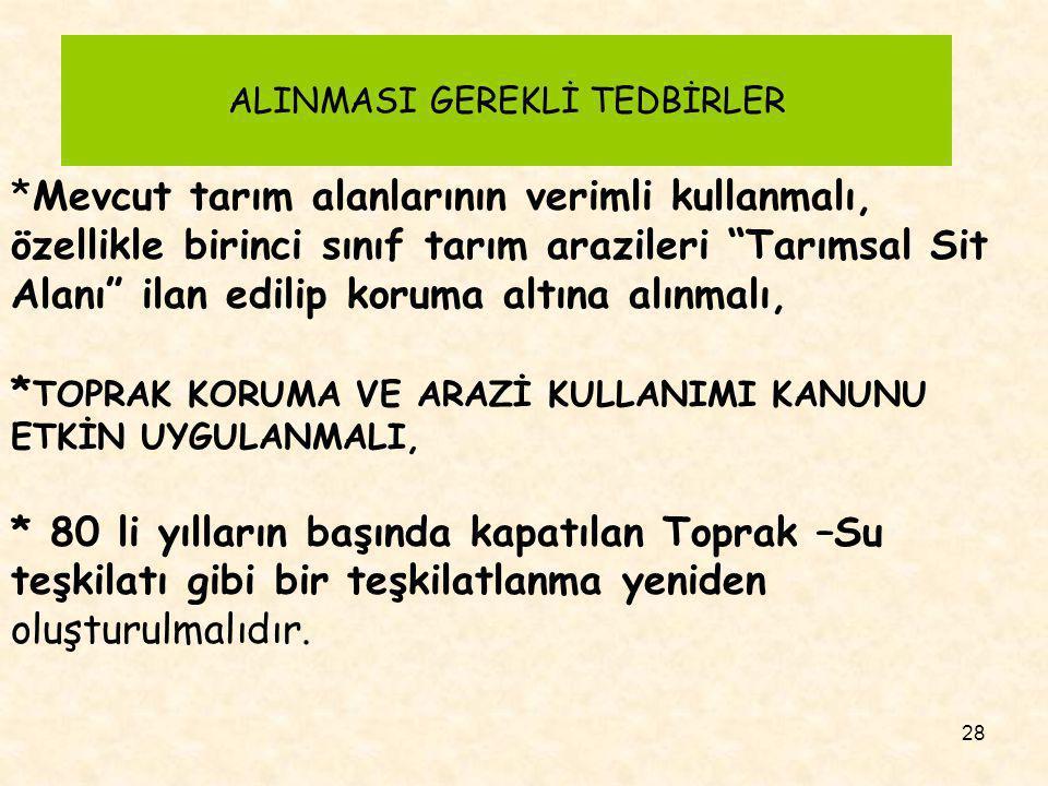 ALINMASI GEREKLİ TEDBİRLER
