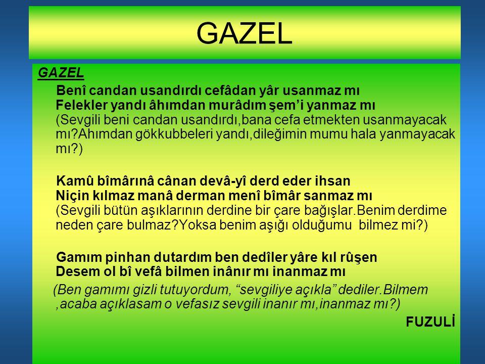 GAZEL GAZEL.