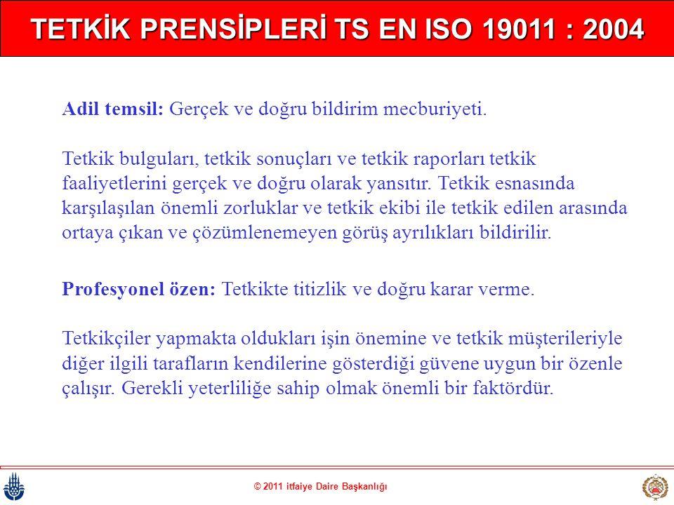 TETKİK PRENSİPLERİ TS EN ISO 19011 : 2004