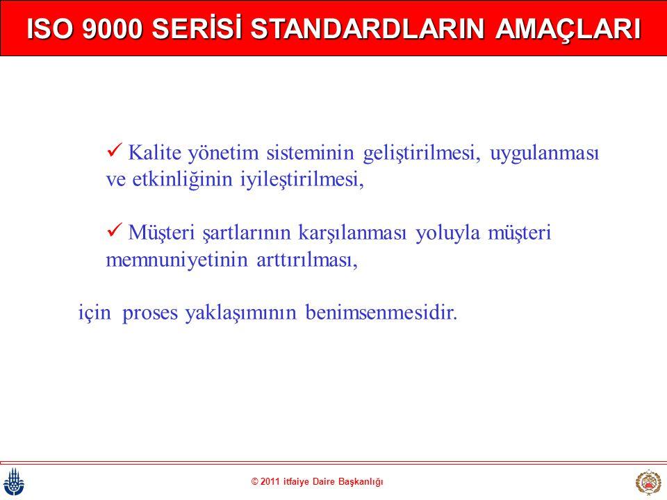 ISO 9000 SERİSİ STANDARDLARIN AMAÇLARI © 2011 itfaiye Daire Başkanlığı