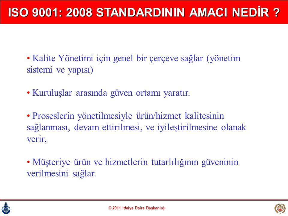ISO 9001: 2008 STANDARDININ AMACI NEDİR
