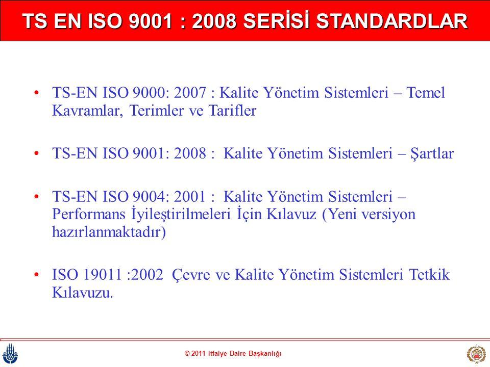 TS EN ISO 9001 : 2008 SERİSİ STANDARDLAR