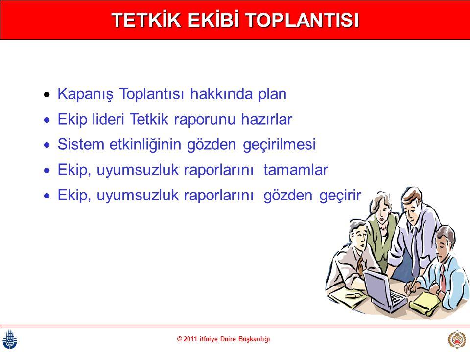 TETKİK EKİBİ TOPLANTISI © 2011 itfaiye Daire Başkanlığı