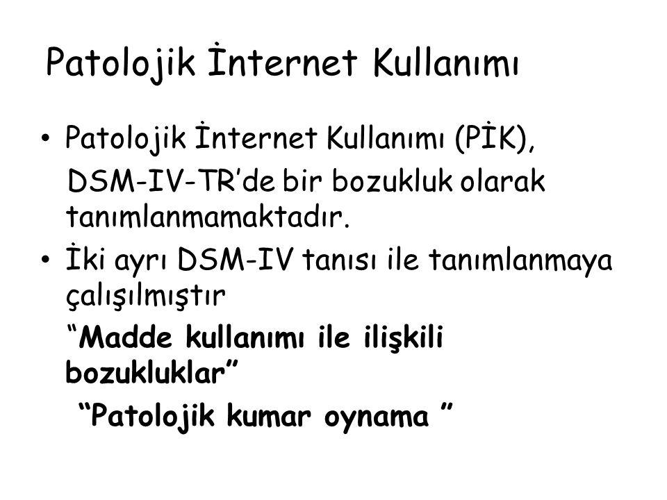 Patolojik İnternet Kullanımı