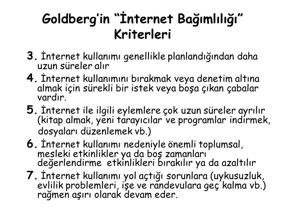 Goldberg'in İnternet Bağımlılığı Kriterleri