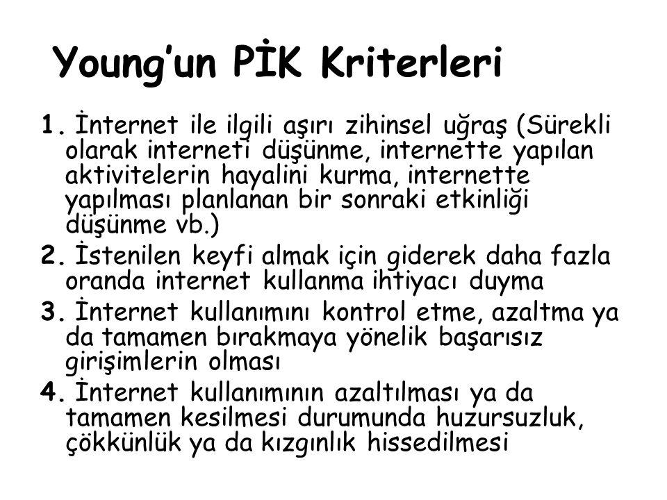 Young'un PİK Kriterleri