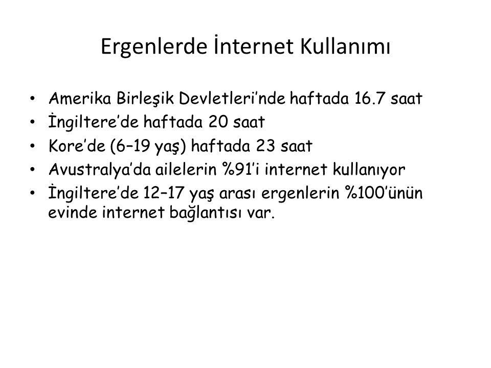 Ergenlerde İnternet Kullanımı