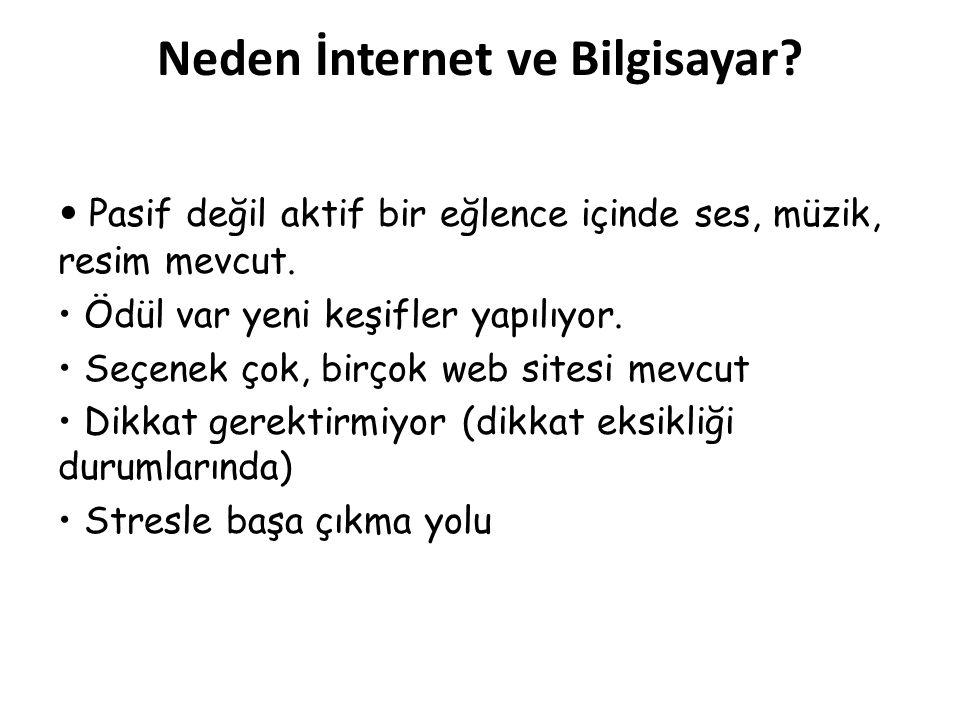 Neden İnternet ve Bilgisayar