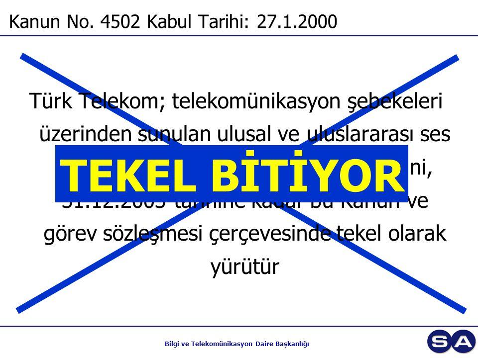 Kanun No. 4502 Kabul Tarihi: 27.1.2000