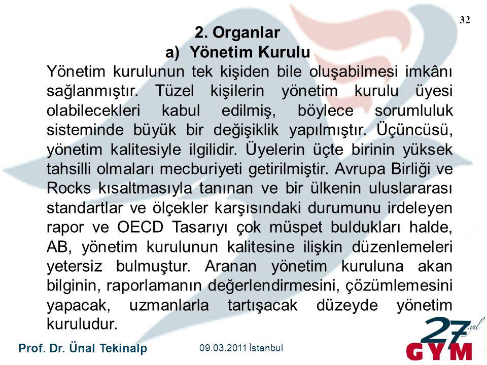 2. Organlar Yönetim Kurulu