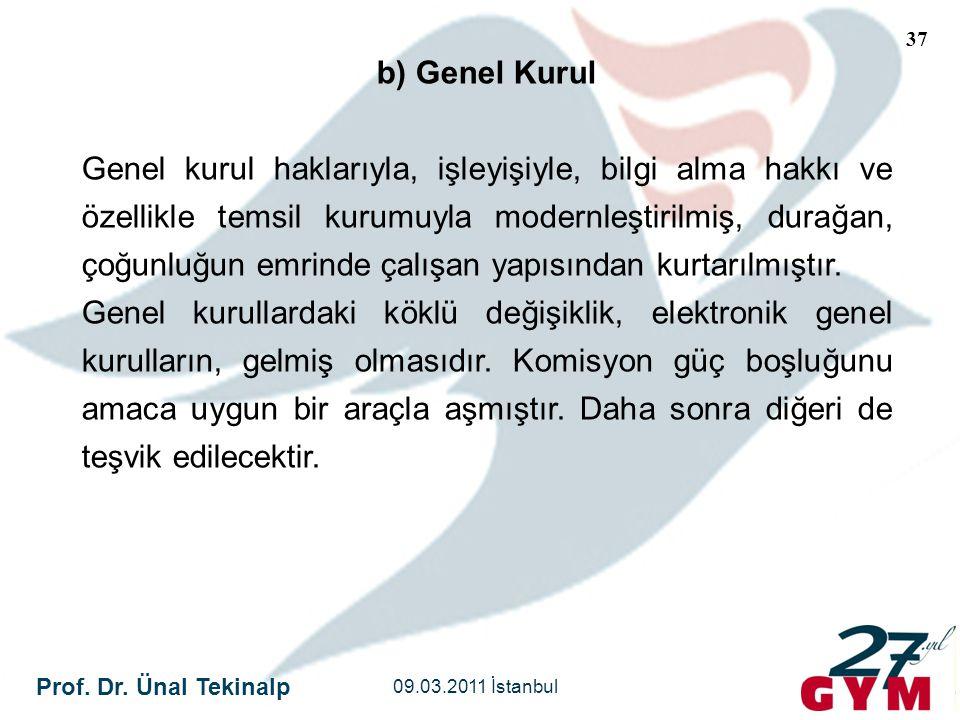 b) Genel Kurul
