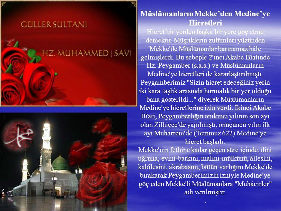 Müslümanların Mekke'den Medine'ye Hicretleri