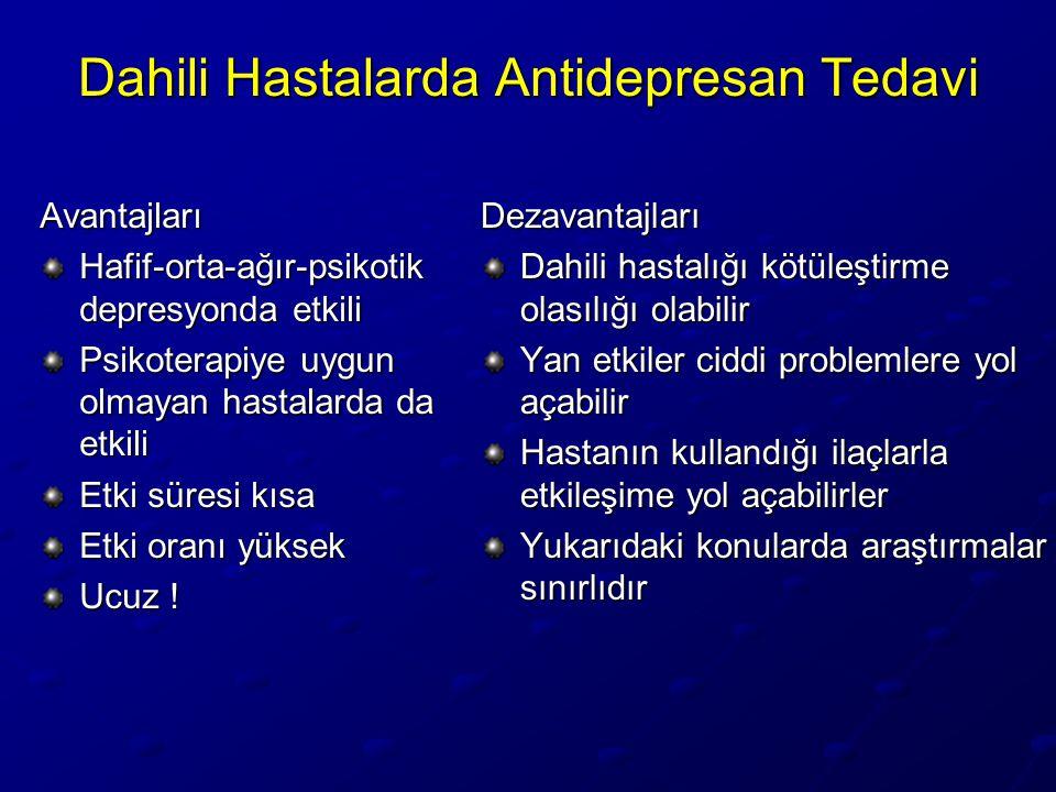 Dahili Hastalarda Antidepresan Tedavi