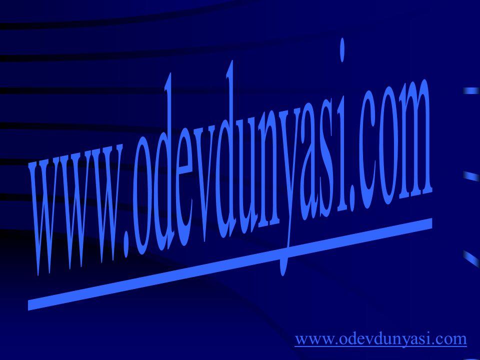 www.odevdunyasi.com www.odevdunyasi.com