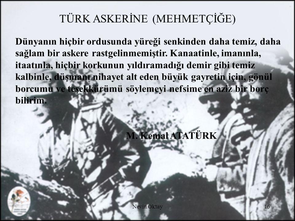 TÜRK ASKERİNE (MEHMETÇİĞE)