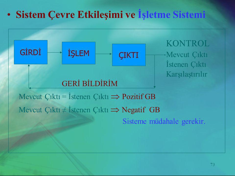 Sistem Çevre Etkileşimi ve İşletme Sistemi