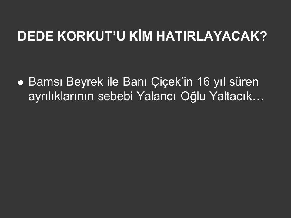DEDE KORKUT'U KİM HATIRLAYACAK