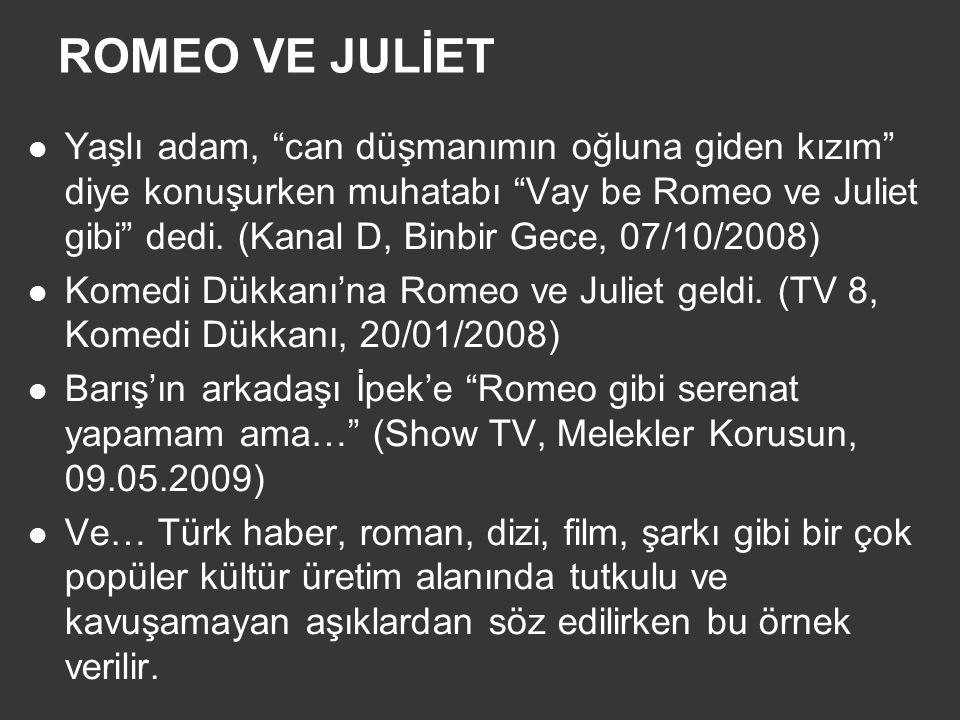 ROMEO VE JULİET