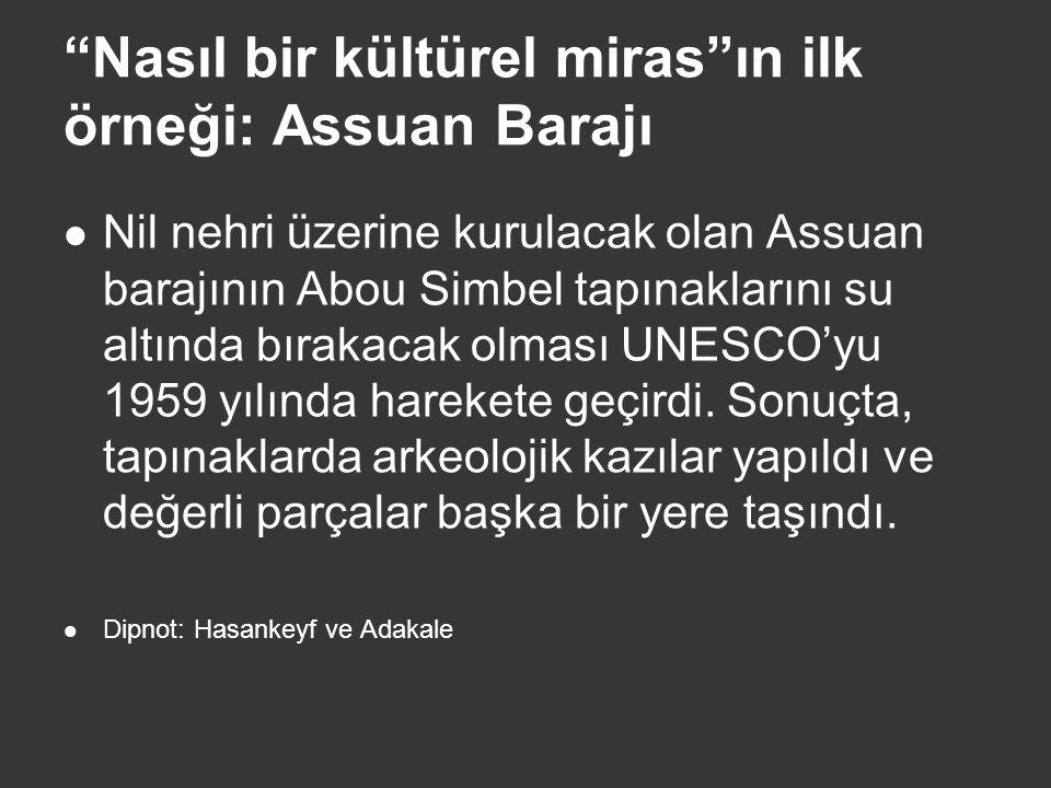 Nasıl bir kültürel miras ın ilk örneği: Assuan Barajı