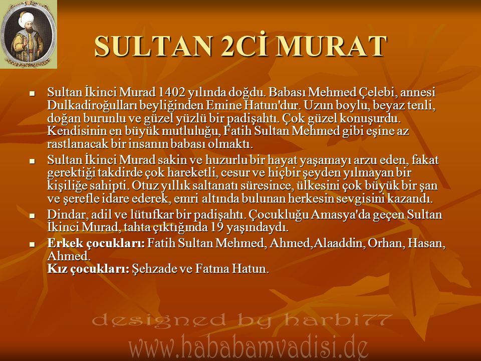 SULTAN 2Cİ MURAT designed by harbi77