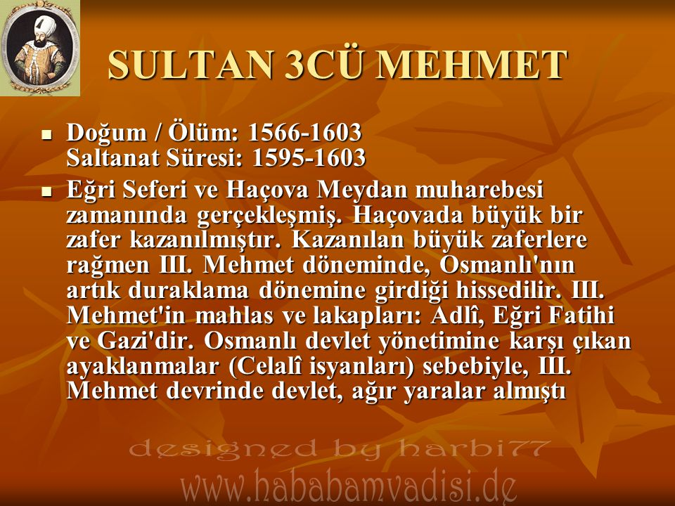SULTAN 3CÜ MEHMET designed by harbi77