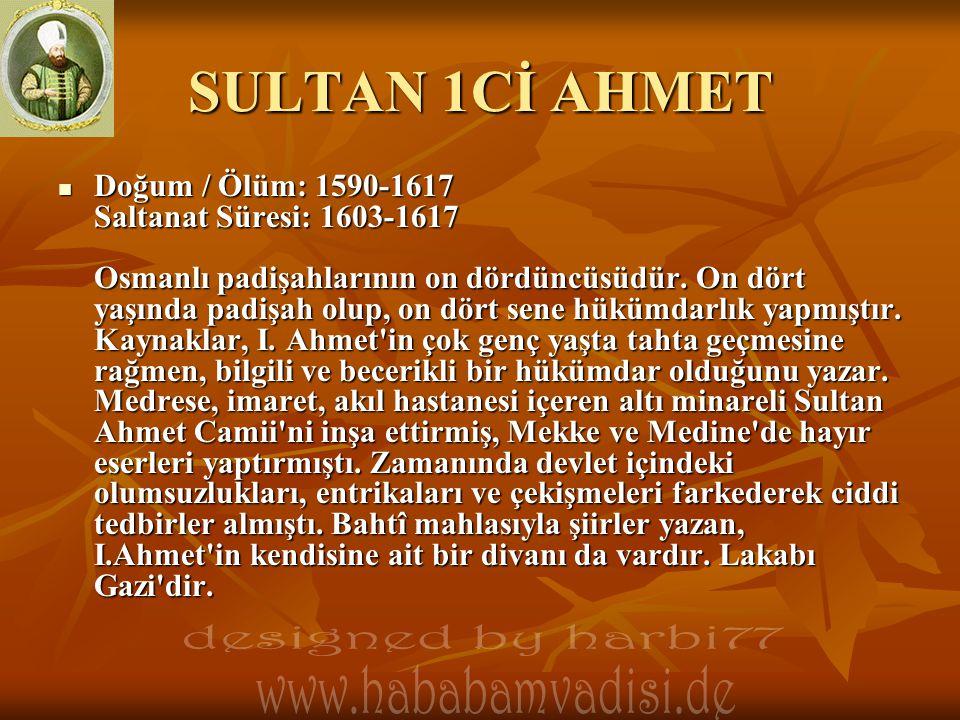 SULTAN 1Cİ AHMET designed by harbi77 www.hababamvadisi.de