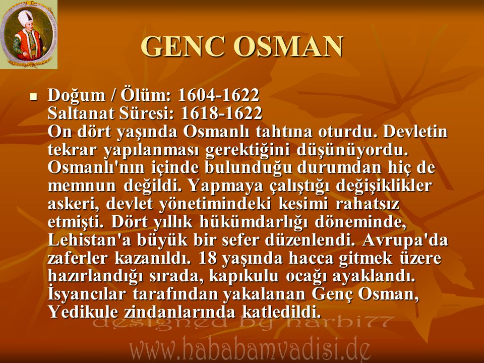 GENC OSMAN designed by harbi77
