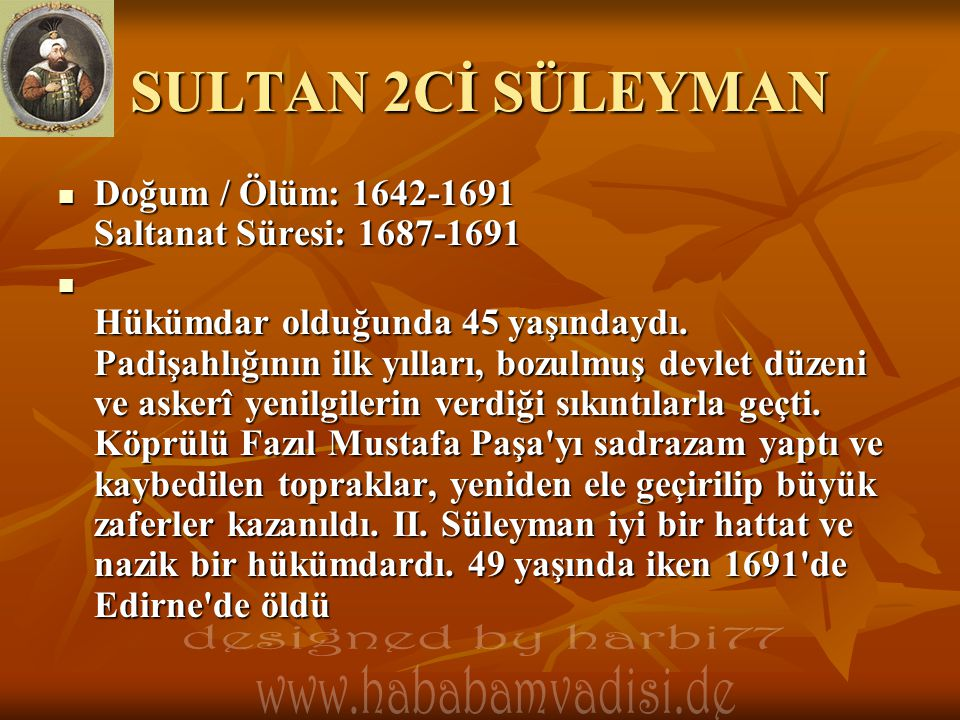 SULTAN 2Cİ SÜLEYMAN designed by harbi77