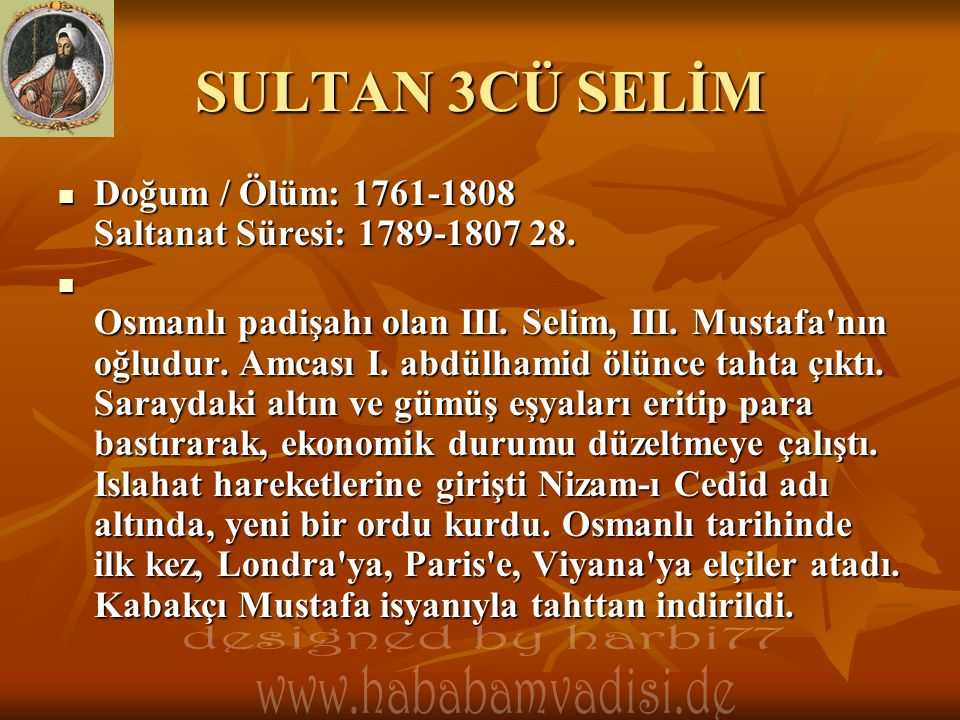 SULTAN 3CÜ SELİM designed by harbi77
