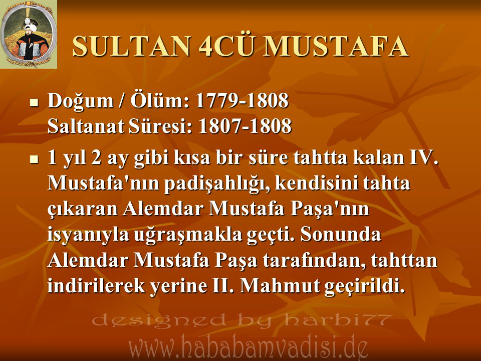 SULTAN 4CÜ MUSTAFA designed by harbi77