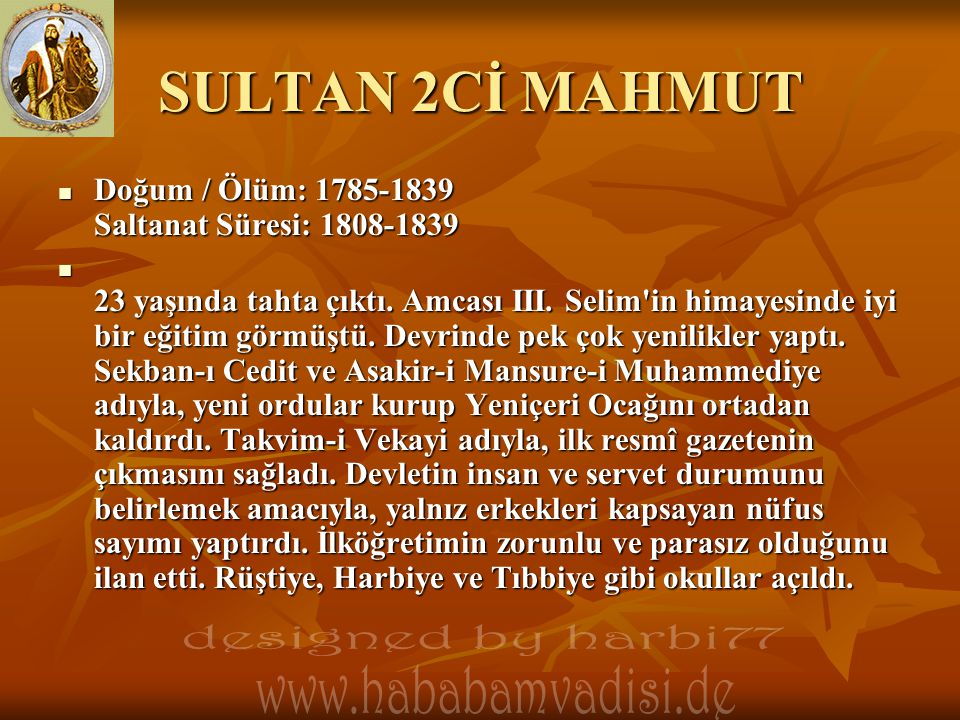 SULTAN 2Cİ MAHMUT designed by harbi77