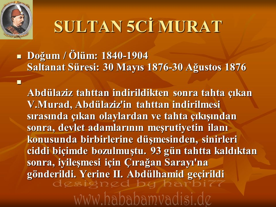 SULTAN 5Cİ MURAT designed by harbi77