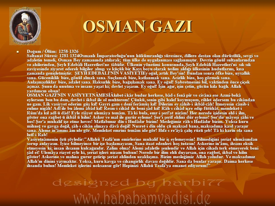 OSMAN GAZI designed by harbi77