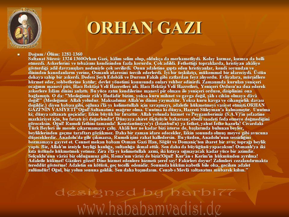 ORHAN GAZI designed by harbi77 www.hababamvadisi.de
