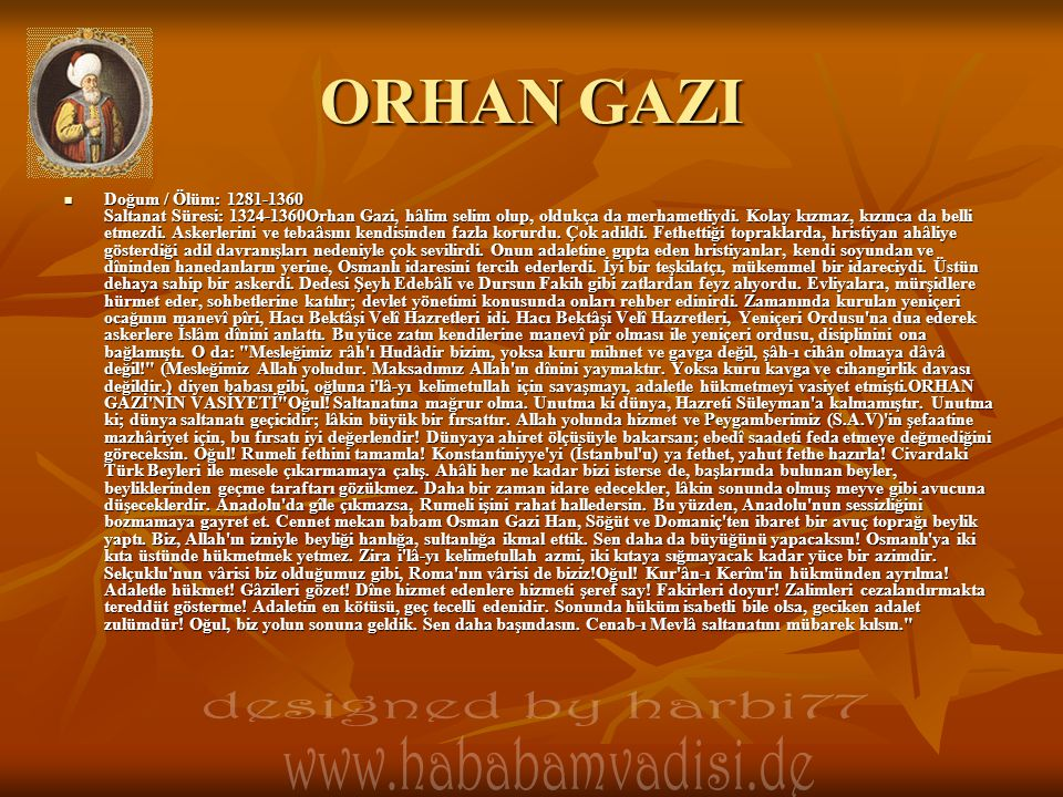 ORHAN GAZI designed by harbi77
