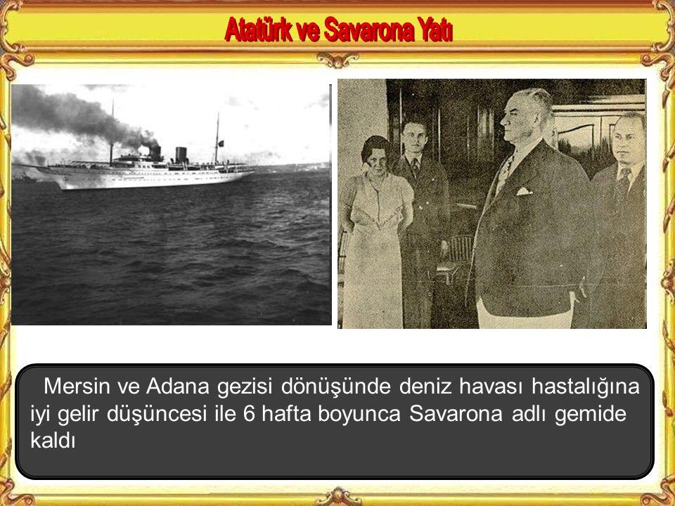 Atatürk ve Savarona Yatı