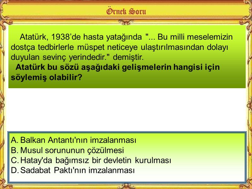 Atatürk, 1938'de hasta yatağında