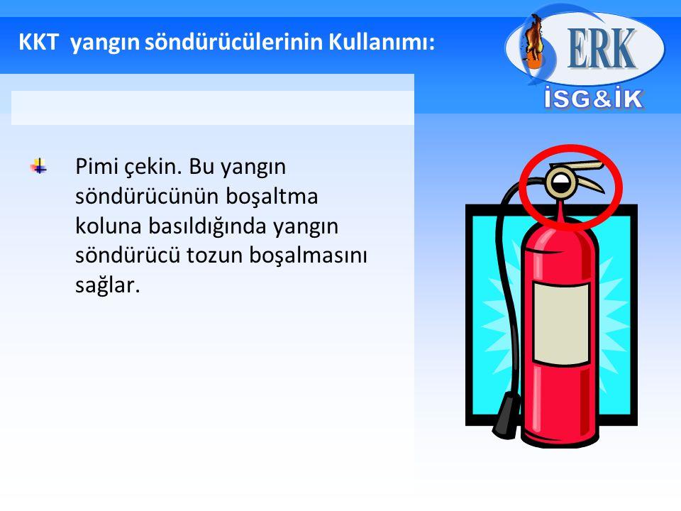KKT yangın söndürücülerinin Kullanımı: