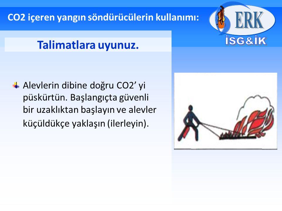 CO2 içeren yangın söndürücülerin kullanımı: